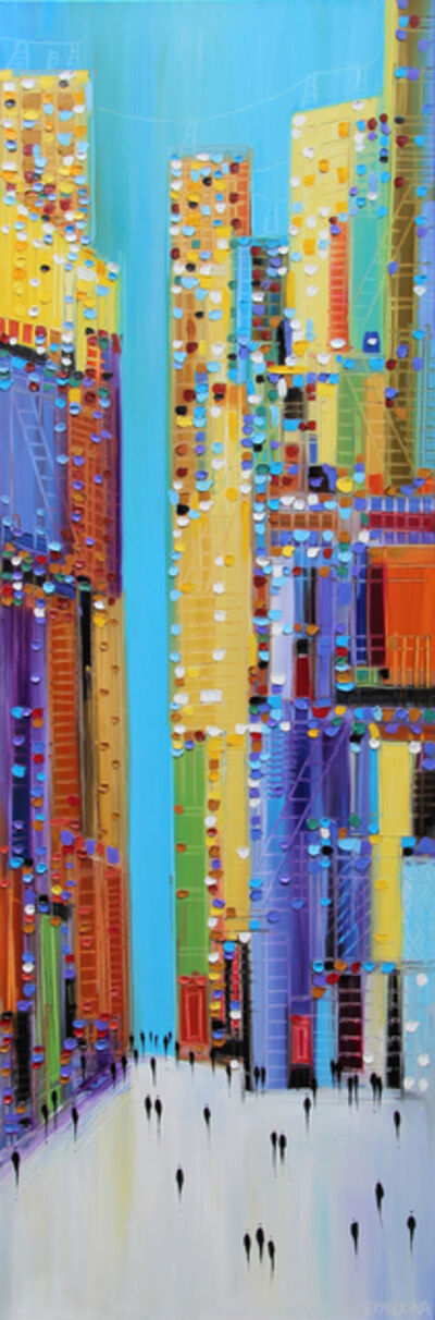 Ekaterina Ermilkina, 'Colorful Cityscape', 2017