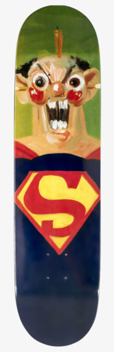 George Condo, 'Superman Skateboard deck', 2010