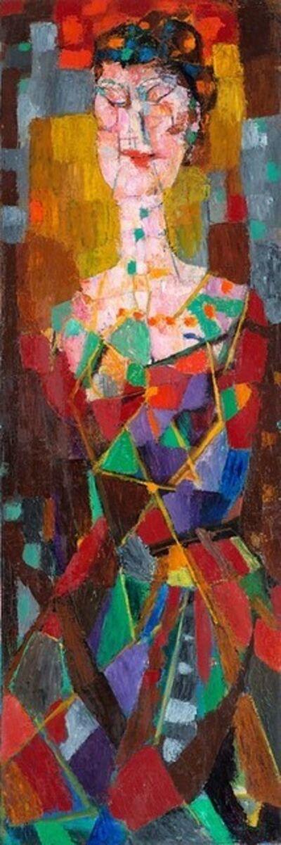 Bruno Cassinari, 'Figura in rosso', 1955