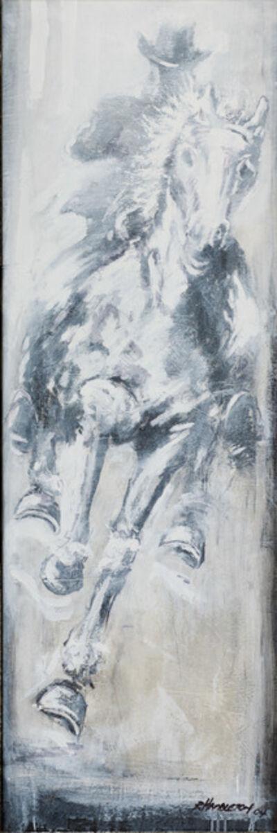 Richard Hambleton, 'Horse & Rider - White', 2018