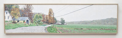 Lloyd Brown, 'A White House, Yellow Garage, and a Misty Morning Pasture, Indiana, US Highway 50', 2016