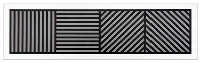 Sol LeWitt, 'Bands of Lines One Inch Wide in Four Directions in Black & Gray', 1985