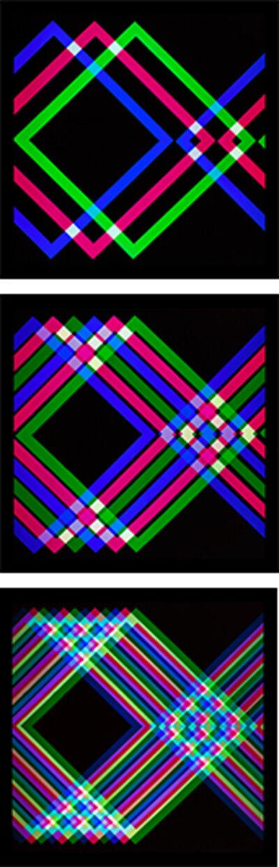 Gruppo MID, 'Perimetro quadrato col A, B, C (Triptych)', 1966