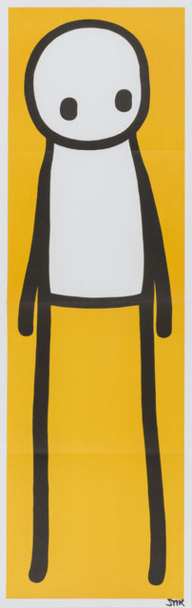 Stik, 'Standing Figure (Yellow)', 2015