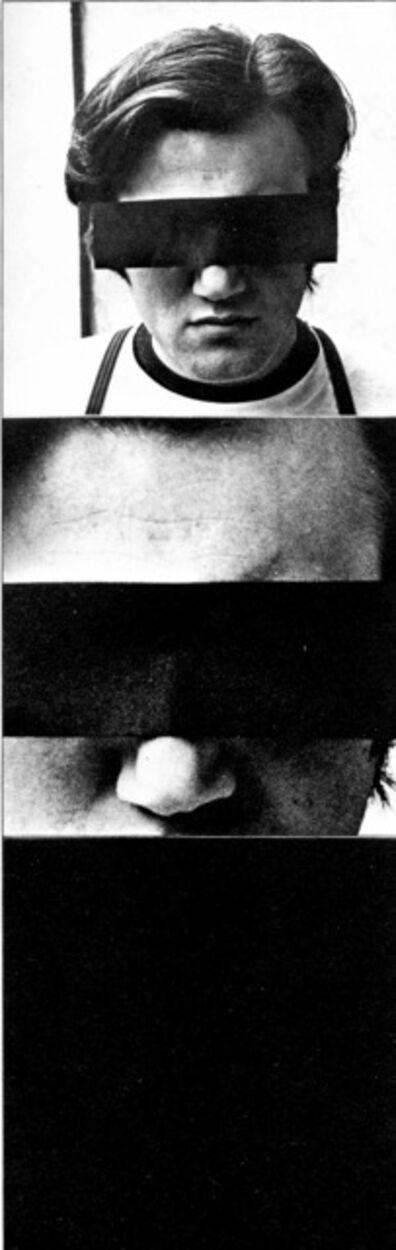 Peter Weibel, 'SELBSTPORTRAIT ALS ANONYMUS', 1967