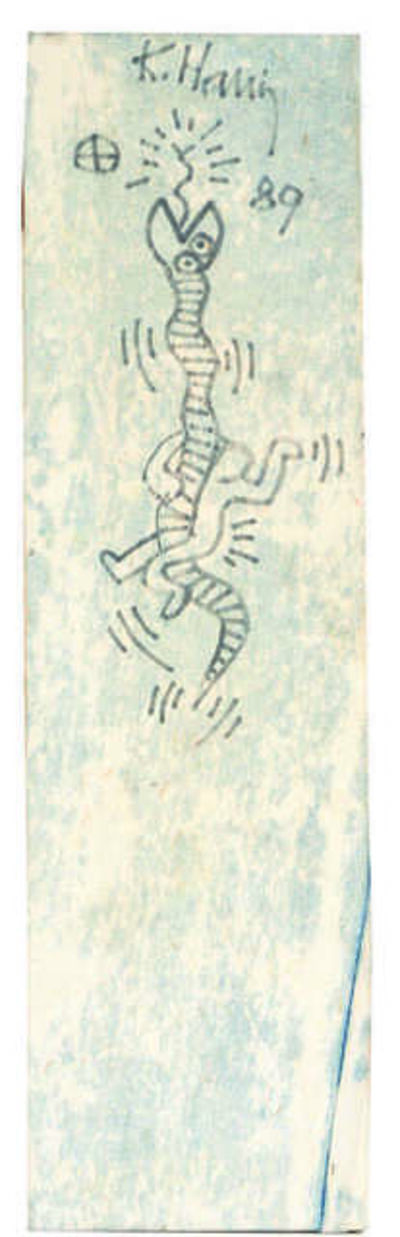 Keith Haring, 'Untitled (Snake)', 1989