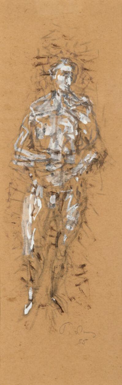 Mark Tobey, 'Male figure', 1955