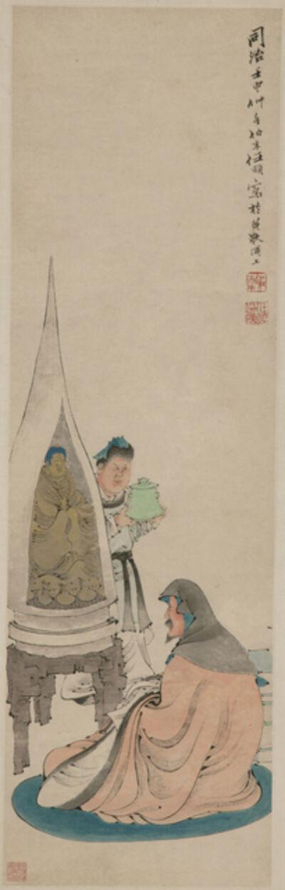 Ren Bonian, 'Worshipping Buddha', Renshen (1872)