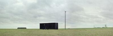 David Stewart, 'Back Dog Leads Black Coat Past Black Shed', 2006