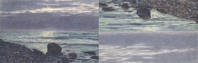 Rosha Yaghmai, 'Horizon Shift,Silver, Lilac, Aqua', 2013
