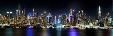 Andrew Prokos, 'Panoramic Skyline of Midtown Manhattan at Night 2020', 2020