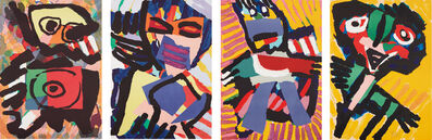 Karel Appel, 'Four figural prints', ca. 1973