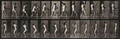 Eadweard Muybridge, 'Animal Locomotion: Plate 293 (Nude Man Playing Cricket)', 1887