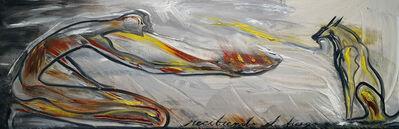 José Bedia, 'Recibiendo el fuego', 2019