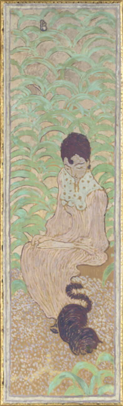 Pierre Bonnard, 'Femmes au jardin, Femme assise au chat (Women in the Garden, Seated Woman with a Cat)', 1890-18901