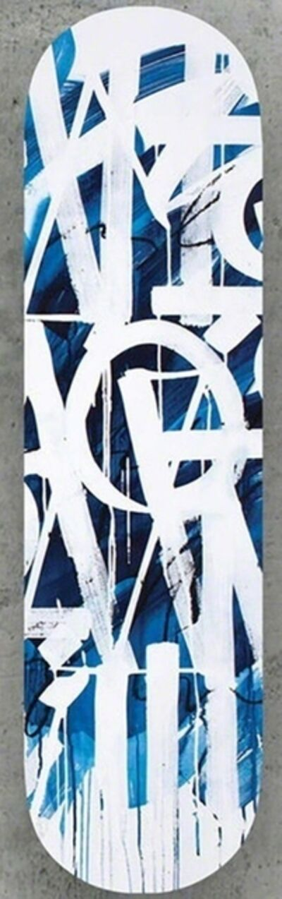 RETNA, 'Original Limited Edition Skateboard Skate deck (Blue) with hand signed COA (blue colored back)', 2018
