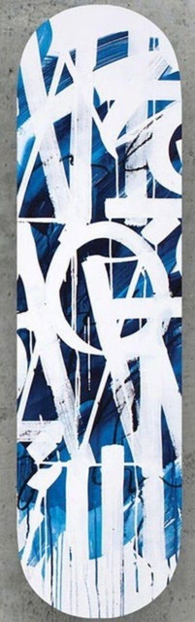 RETNA, 'Original Limited Edition Skateboard Skate deck (Blue) with hand signed COA (blue colored back)', 2018