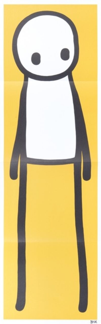 Stik, 'Standing Figure Yellow', 2015