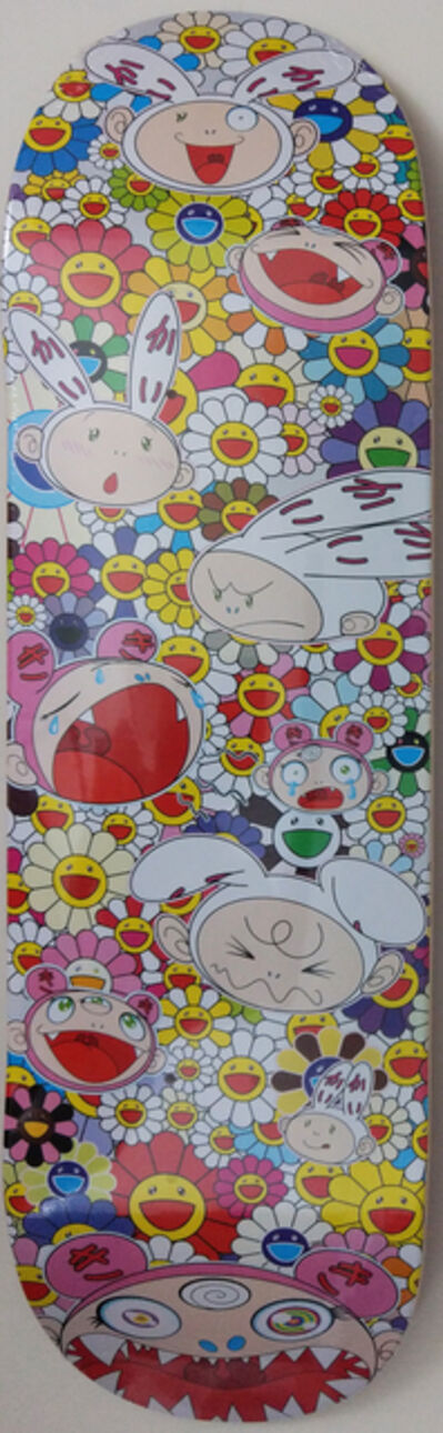 Takashi Murakami, 'Kaikai & Kiki Flower Skate Deck (Rainbow)', 2018