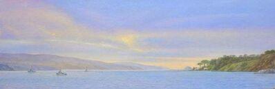 Willard Dixon, 'Tamales Bay Evening / Boats on the Bay at sunset - peaceful ', 2019