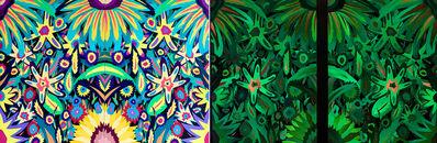 Michael Callas, 'Neon Flowers, Diptych (Glow in the Dark)', 2020