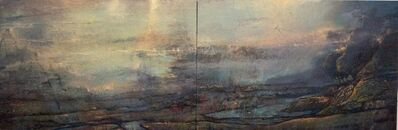 Gail Chase Bien, 'Letter to the Sixth Poet / 40 X 120 oil on canvas diptych - serene luxury ', 2019