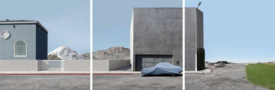 Lauren Marsolier, 'Landscape with Covered Car (Triptych)', 2012