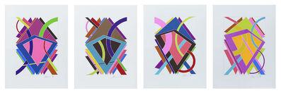 """William T. Williams, '""""Four Seasons""""', 1970"""