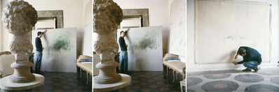 Horst P. Horst, 'Cy Twombly in Rome 1966 - Untitled #30, Untitled #24, and Untitled #15, Triptych', 1966