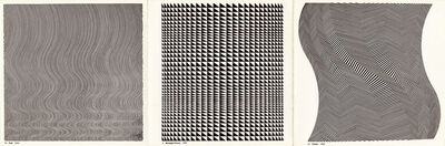 Bridget Riley, 'Fall, Straight Curve, Twist', 1963