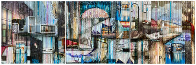 Madonna Phillips, ''A Sense of Place' Mixed Media Painting on Wood Panel', 2020