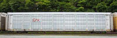 "Stephen Mallon, 'Passing Freight ""NKCR 9304 Autorack""', 2019"