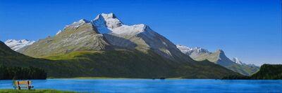 Lukas R. Vogel, 'Sommermorgen am Silsersee'