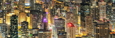 Andrew Prokos, 'Chicago City Lights Panorama', 2020