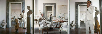 Horst P. Horst, 'Cy Twombly in Rome 1966 - Untitled #9, Untitled #4, and Untitled #11, Triptych', 1966