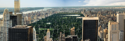 Mark Chen, '85 Feet / 200 Megawatts (Central Park, New York City)', 2014