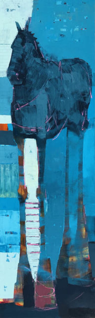 Sherri Belassen, 'cheval en bleu', 2019