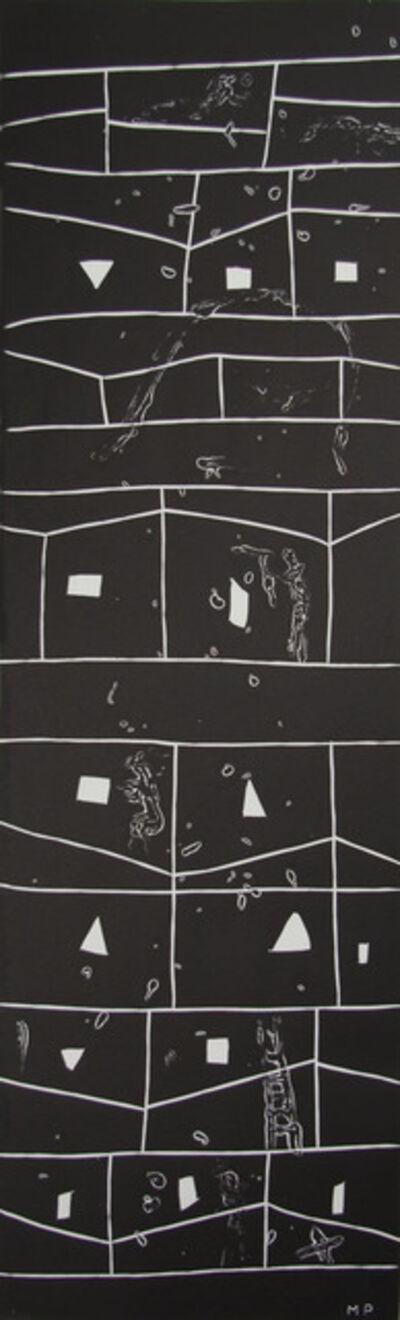 Mimmo Paladino, 'Atlantico V (Rectangular Grid with Figures)', 1987