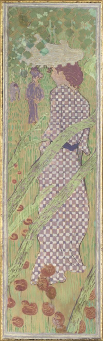 Pierre Bonnard, 'Femmes au jardin, Femme à la robe quadrillée (Women in a Garden: Woman in a Checked Dress)', 1890-1891