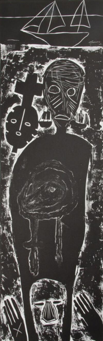 Mimmo Paladino, 'Atlantico IV (Large Figure with Mask)', 1987