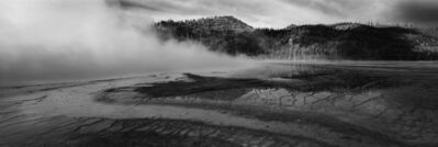 Cody S. Brothers, 'Black & White Panoramic Photography: 'Prism Pool #1- Yellowstone'', 2018