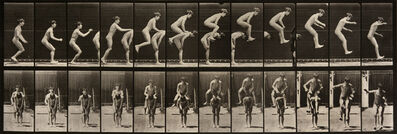 Eadweard Muybridge, 'Animal Locomotion: Plate 168 (Two Boys Performing a Leap Frog)', 1887