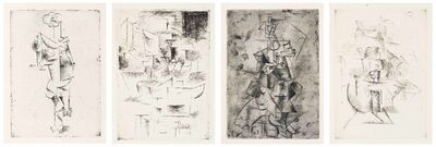 Pablo Picasso, 'Max Jacob, Saint Matorel, Henry Kahnweiler, Paris, 1911'