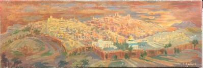 Claire Szilard, 'Jerusalem Old City Oil Painting Cityscape by Noted Hungarian Israeli Artist', 20th Century