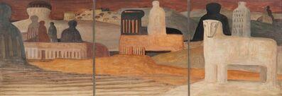 Salvatore Fiume, 'Isola di statue', 1953