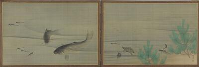 Maruyama Ōkyo, 'Fish and Turtles in Water. Japan, Edo period (1615–1868)', ca. 1780