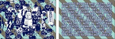 Phunk, 'Laughing Buddha & The Story (70 x 100 cm x 2 panels)', 2021