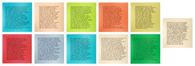 "Jenny Holzer, '11 works from the series ""Inflammatory Essays""', 1979-1982"