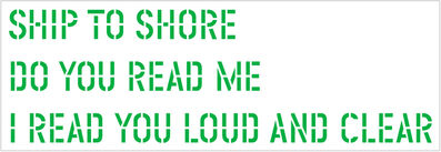 Lawrence Weiner, 'Ship to Shore', 2004