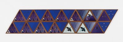 Laura Grisi, 'Blue Triangles', 1981